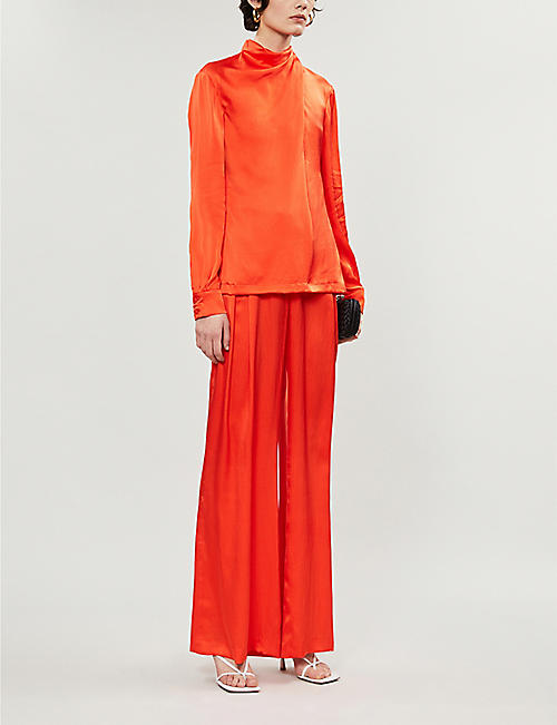GABRIELA HEARST Marcelina draped silk shirt