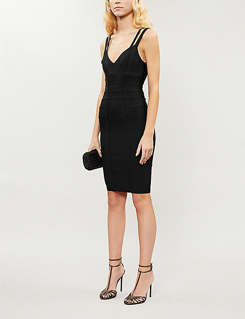 TOPSHOP Bandage stretch-knit midi dress