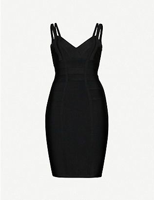 TOPSHOP: Bandage stretch-knit midi dress