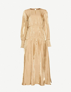 TOPSHOP Shiny ruched crepe dress