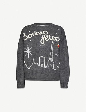 TOPSHOP Knitted long-sleeved Christmas jumper