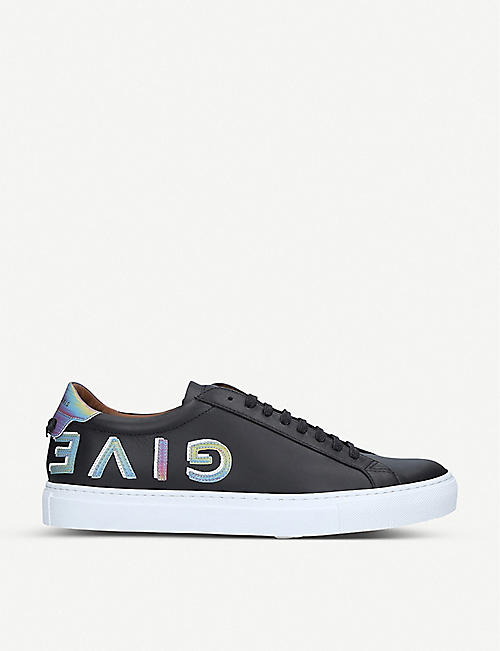 GIVENCHY Knot holographic-logo leather trainers