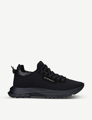 GIVENCHY Spectre panelled woven and leather low-top trainers