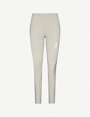 ARTICA ARBOX Logo-print mid-rise stretch-woven leggings