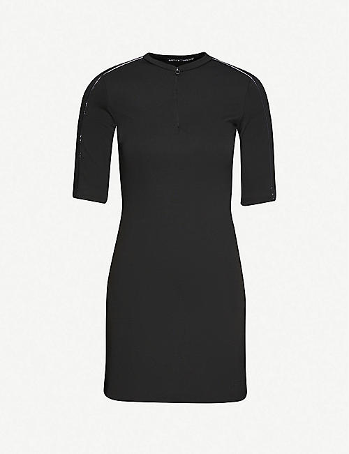 ARTICA ARBOX: Piping-detail stretch-woven mini dress