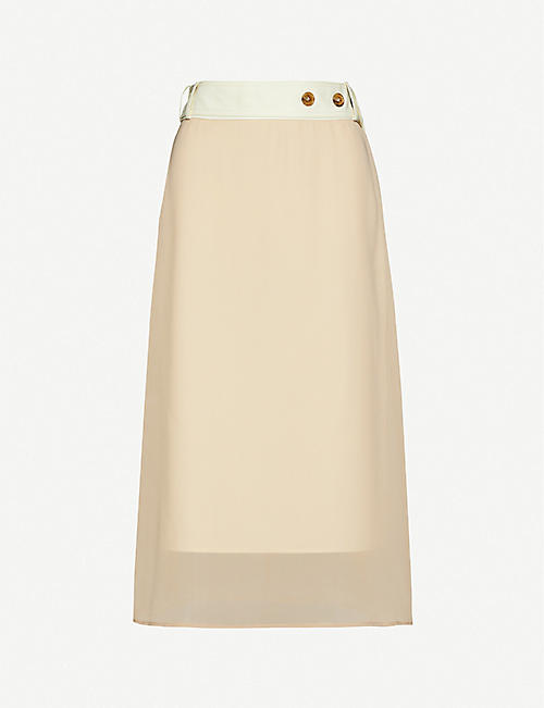 ROKH: Layered crepe skirt