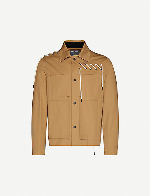 CRAIG GREEN Worker laced cotton-blend jacket