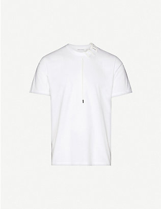 CRAIG GREEN: Lace-embellished cotton-jersey T-shirt