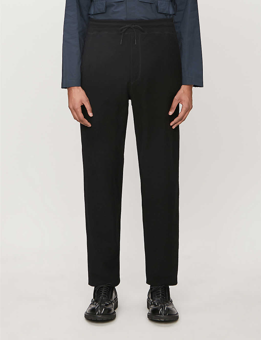 CRAIG GREEN: Laced cotton-blend jersey jogging bottoms