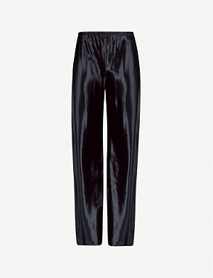 THE ROW Gala flared high-rise satin trousers