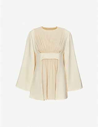 THE ROW: Polina gathered crepe top