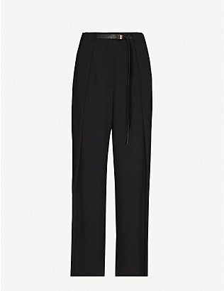 THE ROW: Brona wide-leg high-rise wool trousers