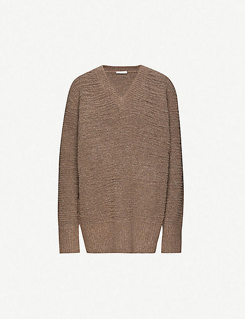 THE ROW Elainie V-neck wool-blend jumper