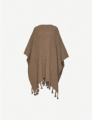 THE ROW: Tassel-trimmed wool-blend poncho