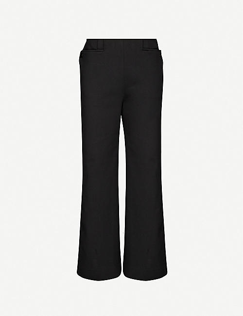 THE ROW: Subira wide-leg mid-rise stretch-woven trousers