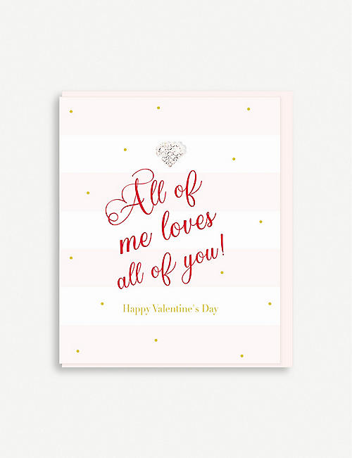 HEARTS DESIGNS All of Me Loves All of You card 15cm