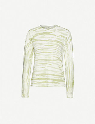 REFORMATION: Eddie tie-dye stretch-jersey T-shirt