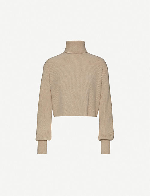 REFORMATION Luisa turtleneck recycled cashmere and wool-blend jumper