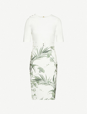 TED BAKER Highland woven midi dress