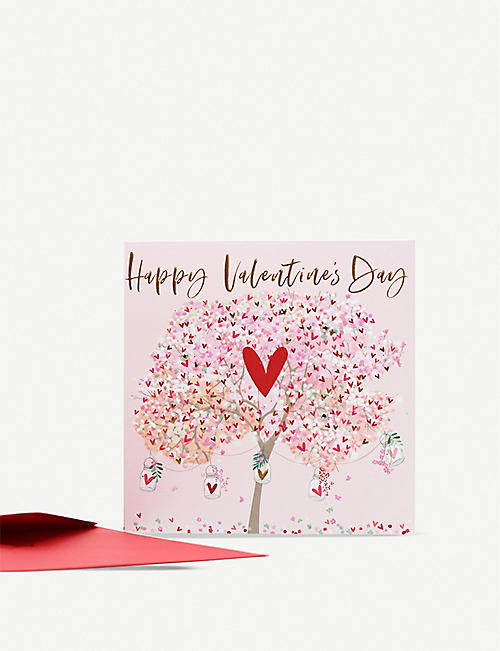 BELLY BUTTON DESIGNS Valentine's day greeting card 16.5cm x 16.5cm