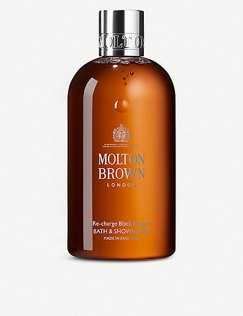 MOLTON BROWN: Re-Charge Black Pepper Bath and Shower Gel 300ml