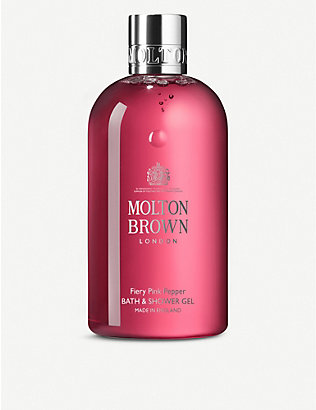 MOLTON BROWN: Fiery Pink Pepper Bath & Shower Gel 300ml