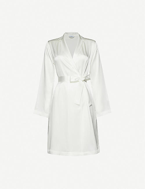 LA PERLA: Notch-lapel silk dressing gown