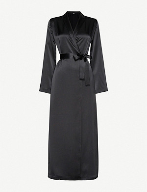 LA PERLA Long silk night robe