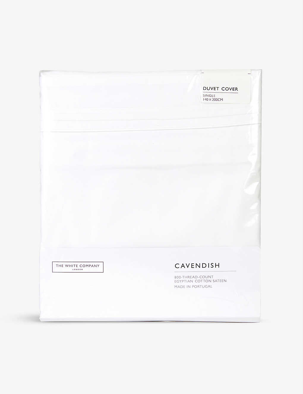 THE WHITE COMPANY: Cavendish Egyptian cotton single duvet cover 140x200cm