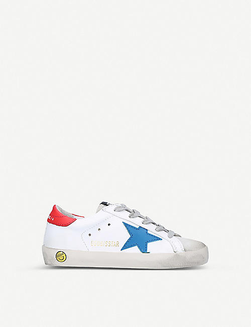 GOLDEN GOOSE Superstar logo-print leather trainers 3-9 years