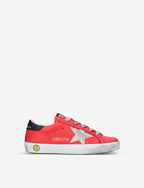 GOLDEN GOOSE: Superstar B54 star-patch leather trainers 6-9 years
