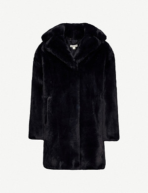 WHISTLES Frankie faux-fur coat