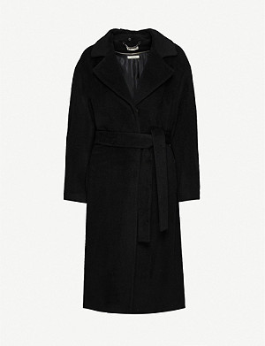 WHISTLES Darcey Drawn Belted Wrap Coat
