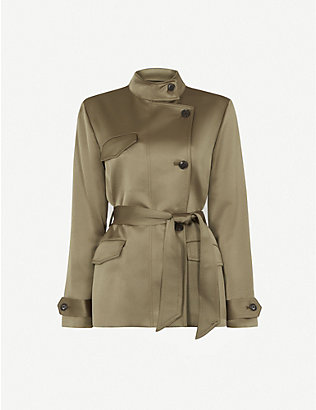 REISS: India belted woven jacket