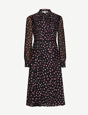 DIANE VON FURSTENBERG Aleka silk-blend midi dress