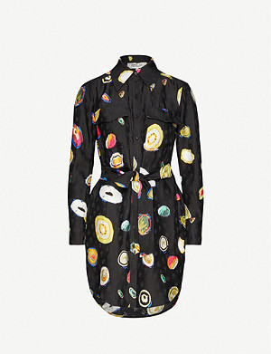 DIANE VON FURSTENBERG Peyton graphic-print silk-blend crepe mini dress