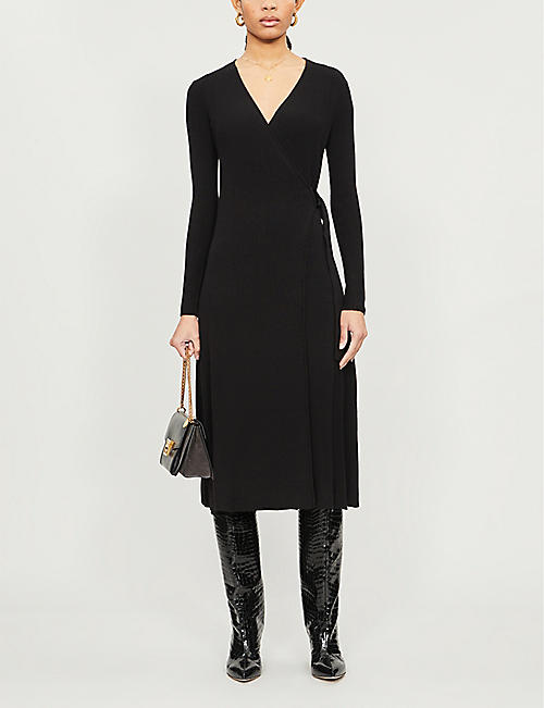 DIANE VON FURSTENBERG Natasha wool-blend midi wrap dress