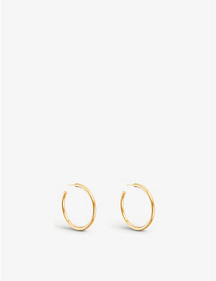 OTIUMBERG: Large chunky gold-plated vermeil silver hoops