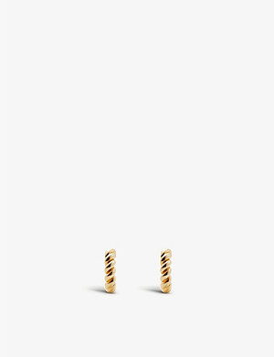 OTIUMBERG Mini chunky twist gold-plated vermeil hoop earrings