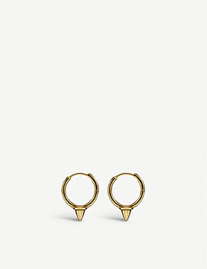 OTIUMBERG Tiny Spike yellow gold-plated hoop earrings
