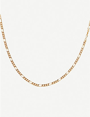 OTIUMBERG: The Figaro yellow gold-plated vermeil silver chain