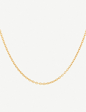 OTIUMBERG Short gold-plated vermeil silver cable chain