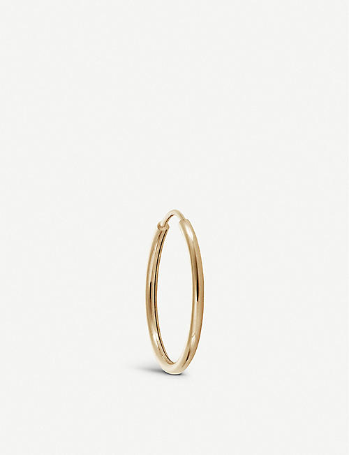 OTIUMBERG: Endless 9ct yellow-gold hoop earring