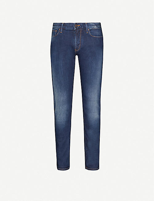 EMPORIO ARMANI: Regular-fit tapered jeans