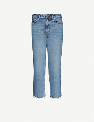 ALLSAINTS: Harper straight-leg mid-rise stretch-denim jeans