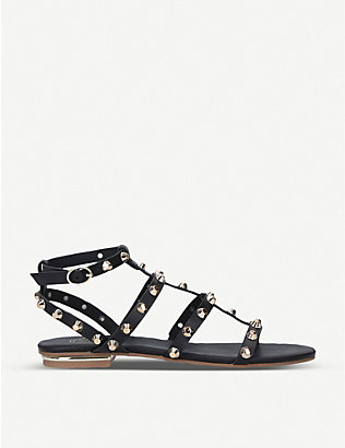 KG KURT GEIGER: Rubble studded faux-leather gladiator sandals