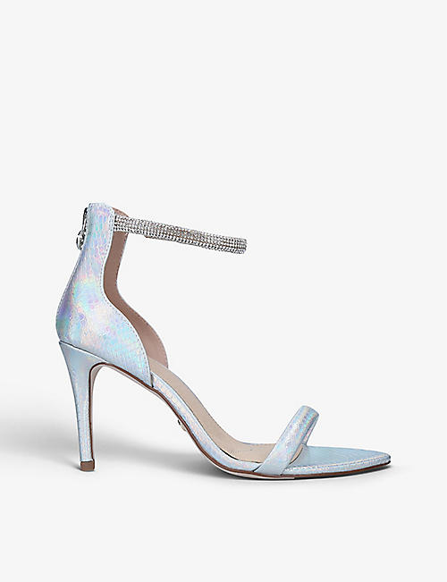 KG KURT GEIGER: Sassy faux-leather heeled sandals