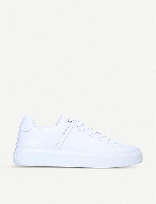 BALMAIN B-Court low-top leather trainers