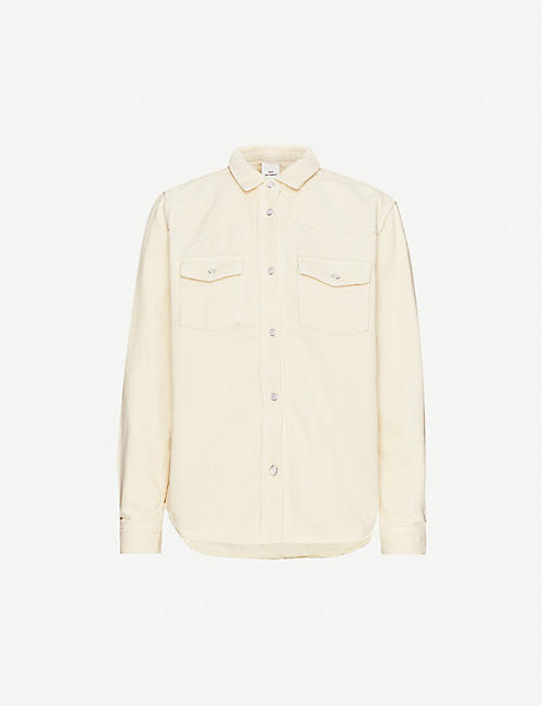 WON HUNDRED Pernilla branded-tab corduroy shirt