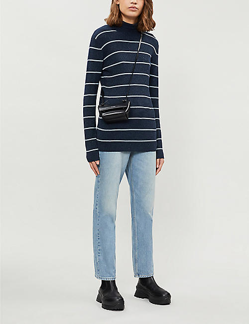 WON HUNDRED Norah striped metallic-knit jumper